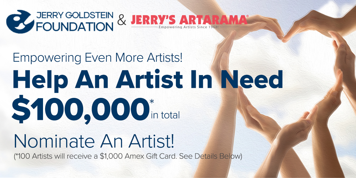 Nominate an Artist in need, $100k to giveaway